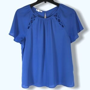 Maurices Blue Blouse Sz Med